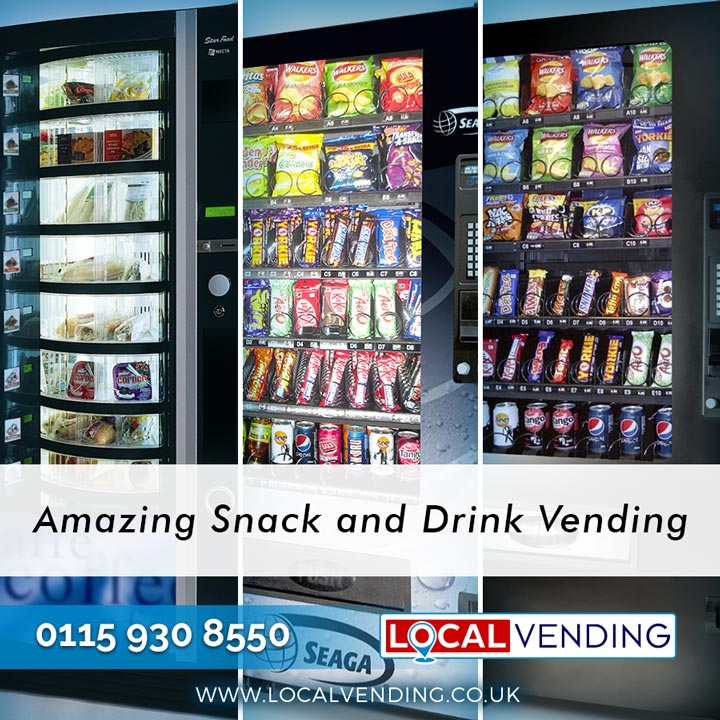 Amazing snacks and drinks vending machines