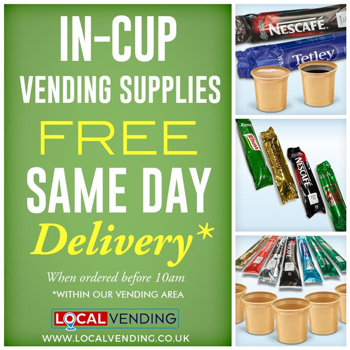 In Cup vending supplies