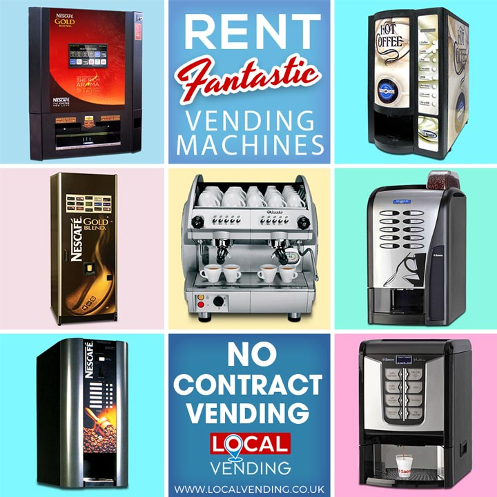Rent vending machines with no contracts