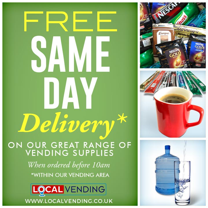 Vending supplies Same day delivery